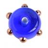 Glass Lamp Bead 6X10mm Spacer Blue/Bronze